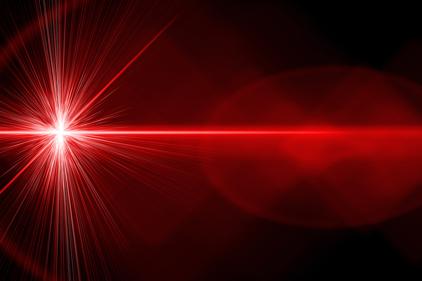 Red laser light